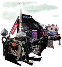 East Village Machinery Landscape von Song Hee Lee
