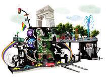 Greenwich village Machinery Landscape by Song Hee Lee