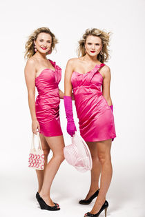 Blonde twins in pink by vito vampatella