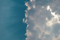 a half of blue and a half of clouds by Pablo Cavia