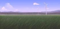 Windmills at Dusk von Carl Logan