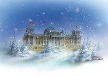 Reichstag im Winter von E. Axel  Wolf