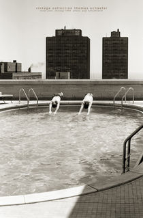 Hotel Pool, Chicago 1964 von Thomas Schaefer