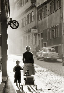 Street Scene, Germany 1954 von Thomas Schaefer