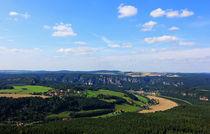Blick zur Bastei von Wolfgang Dufner