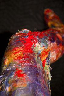 Zombie Leg Abstract by monicaberniece