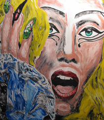 lady gaga, Stefani Germanotta, portrait impression von Raul Raziel