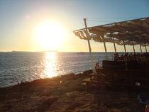 Cafe del Mar im Sonnenuntergang von Emanuel Lonz