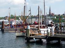 Blick in den Flensburger Hafen by Emanuel Lonz