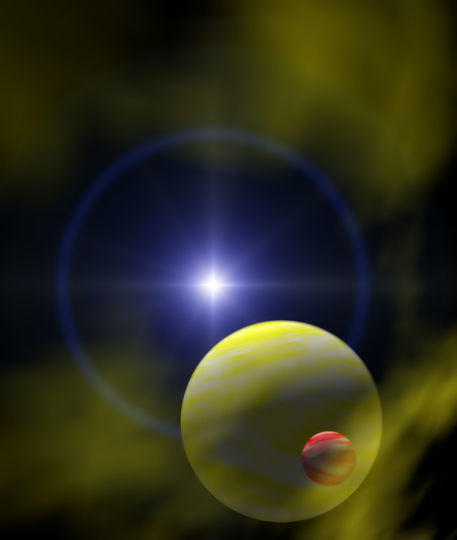 Planeten-gelb
