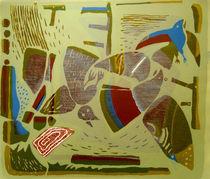 ,, Flight '' 2002/lithography by Krasimir Rizov
