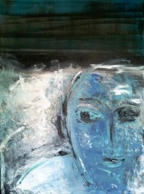 Blaues Gesicht by Walli Gutmann