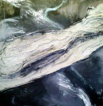 abstraktion in schwarz-weiss by Walli Gutmann