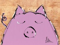 Sleepy pig by Claudia Alegre