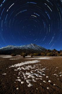 Teide star trails, Tenerife, Teneriffa von Raico Rosenberg