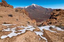 last snow on Teide, Tenerife - Letzter schnee am Teide, Teneriffa von Raico Rosenberg