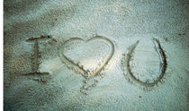 """Ho scritto """"T'amo"""" sulla sabbia von Katia Zaccaria-Cowan"""