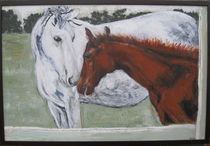 """""""Mare and Foal"""" 2011. by Amanda Fraser"""