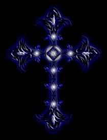 Cross 2 (Blue & White) von Michael Ordway