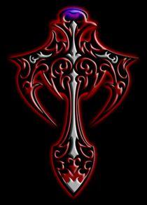 Shield (Red & White) von Michael Ordway