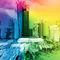 Frankfurt-skyline-regenbogenfarben