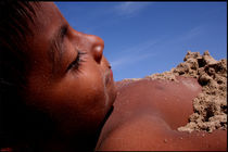 Wittos (Blue) Little Indian Sand Boy  by David Hernández-Palmar