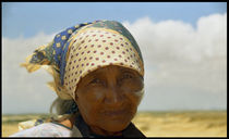 Wayuu Indigenous Elderly Woman Face by David Hernández-Palmar