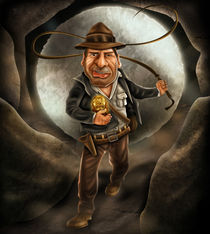 Indiana Jones Caricature by Renan Lima