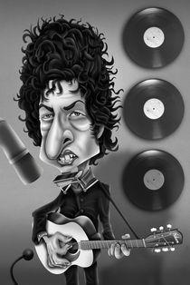 Bob Dylan Caricature by Renan Lima