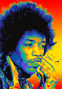 Jimi Hendrix by Mick Usher
