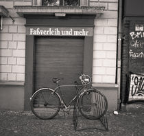 Bicycle and door: Berlin by Ron Greer