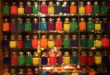 Colourful-jars-seen-at-a-restaurant-in-mumbai
