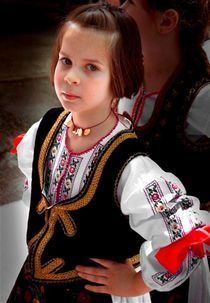Girl in NATIONAL COSTUMES by Ivan Aleksic
