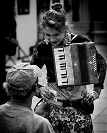 Accordionist by Ivan Aleksic