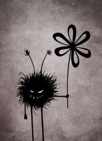 Evil flower bug vintage by Boriana Giormova