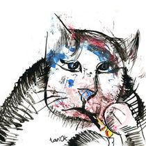 Smoking cat by Tatiana Sevostyanikhina
