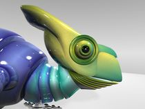 3D Robotic Chameleon (Close-Up) by Marco Romero