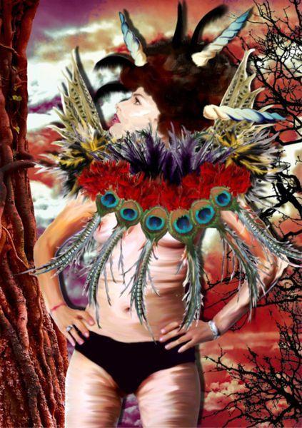 Peacock-girl