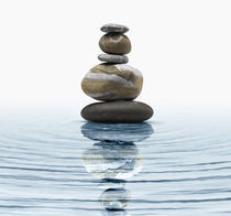 Zen stones in water by Bombaert Patrick