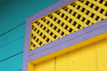 Detail of lively painted house in San Juan del Sur, NIcaragua by Charles Harker