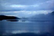 Blaue Landschaft by Christine Bässler