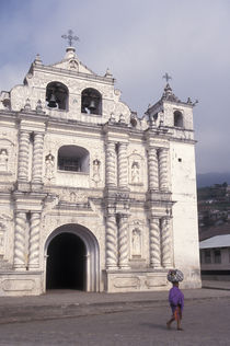Church in Zunil, Guatemala by John Mitchell