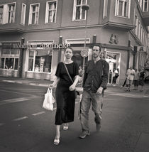 Couple crossing street: Berlin by Ron Greer