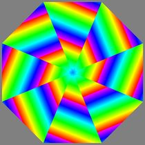 shattered rainbow octagon von Chandler Klebs