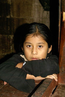 Maya Girl Guatemala by John Mitchell