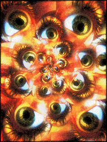 an army of eyes. by Rodrigo Lloreda