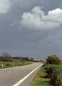 Country road, summer day, threatening rain by Palle Smith-Petersen
