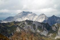 Alpen - Panorama - Gebirge - Schnee von Jens Berger