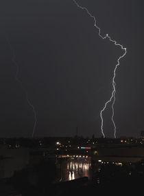 Lightning Strikes The City by Carolyn Cochran