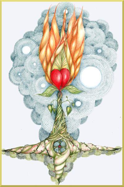 Sacred-heart-flower-card